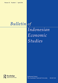 cover bulletin for indonesian economic studies