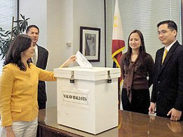 """Christl Kessler and Stefan Rother quoted in GMA News: """"3 govt agencies join hands to reverse poor OAV turnout"""""""